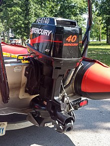 Picture of an outboard jet motor.