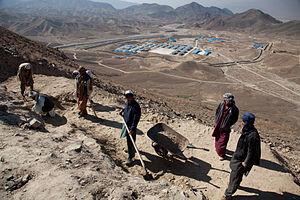 Mes Aynak - Archeologists excavating the monasteries.