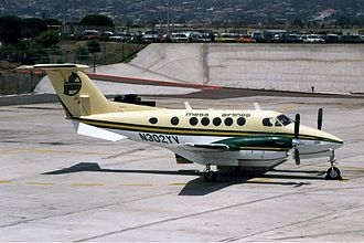 Mesa Airlines - A Beech King Air in livery colors of Mesa Air Lines