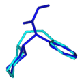 Methylphenidate overlaid 1-(2-Phenylethyl)piperazine.png