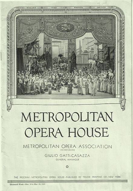 Metropolitan Opera House program cover depicting the Proscenium arch in 1935 Metropolitan Opera House program cover 1935.jpg