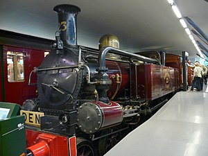 Condensing steam locomotive - Metropolitan Railway A Class Note the large valves in the steam return pipes, switching between condensing and non-condensing modes.