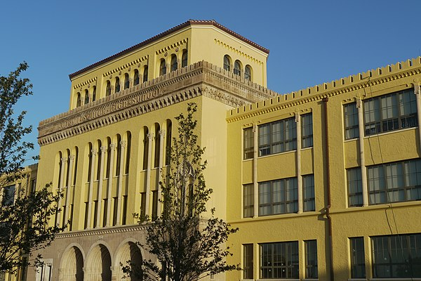 Miami Senior High School, founded in 1903, is Miami's first high school Miami Senior High School July 2013.jpg