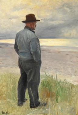 Michael Ancher - Fisker ser ud over havet - 1917