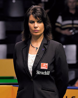 Michaela Tabb - Tabb refereeing a 2013 German Masters match in Berlin
