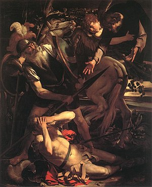 Conversion of Paul the Apostle - The Conversion of Saint Paul, a 1600 painting by the Italian artist Caravaggio.
