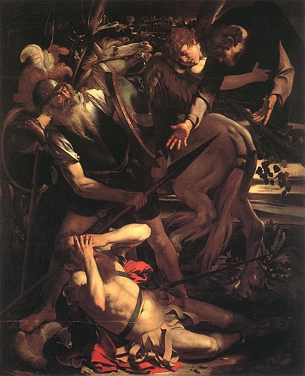 Caravaggio (1571-1610), The Conversion of Saint Paul, 1600 Michelangelo Merisi da Caravaggio - The Conversion of St. Paul - WGA04135.jpg