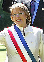 Michelle Bachelet, atual presidente do Chile.