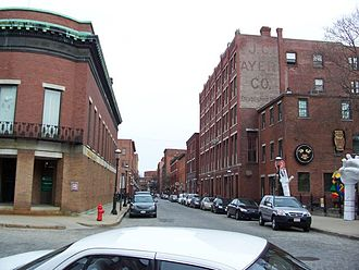 James Cook Ayer - Dr Ayer's laboratory on right, in Lowell.