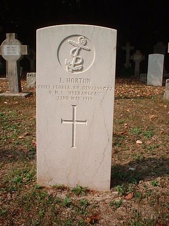 Hong Kong Cemetery - A Royal Navy grave of WWI at Hong Kong (Happy Valley) cemetery.