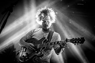 Milky Chance - Clemens Rehbein performing at the Open Air St. Gallen in 2014
