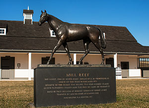 Mill Reef - This statue of Mill Reef stands in the center of Rokeby Stables in Upperville, Virginia