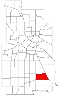 Location of Ericsson within the U.S. city of Minneapolis