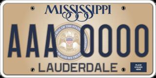Vehicle registration plates of Mississippi Mississippi vehicle license plates