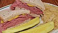 Mmm... corned beef on rye with a side of kraut (7711551990).jpg