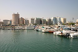 Manama, the capital city of Bahrain.