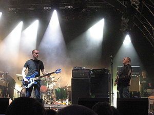 Post-rock - Post-rock group Mogwai performing at a 2007 concert.