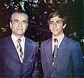 Mohammad Reza Shah and Crown Prince Reza 1979.jpg