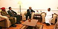 Mohammed Nasser Mohamed Al Rasbi, Defence Secretary of Oman and Head of delegation, calls on the Defence Minister, Shri A. K. Antony, in New Delhi on September 26, 2011.jpg