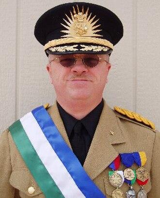 Republic of Molossia - Kevin Baugh (born July 30, 1962).