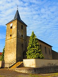 The church in Moncourt