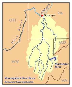 Blackwater River West Virginia Wikipedia - West virginia rivers map
