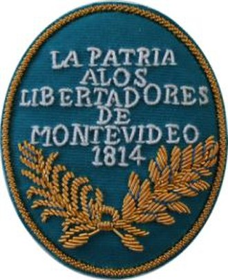 Siege of Montevideo (1812–14) - Honorary shield granted to the troops after taking Montevidéu.