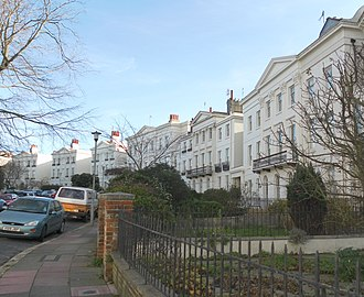 Montpelier Crescent - The central section of Montpelier Crescent seen from the south-southwest