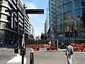 Moorgate junction with South Place, Ropemaker Street and Finsbury Pavement view north 01.jpg