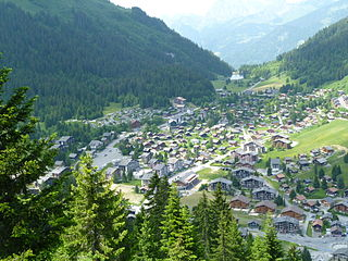 Morgins Swiss village