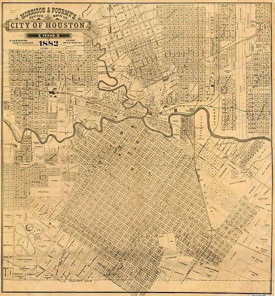 File Morrison Fourmy S 1882 Map Of City Of Houston Jpg Wikimedia