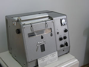 Soviet fax machine in Polytechnical Museum, Moscow