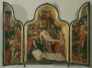 Passion triptych in honor of Albrecht Adriaensz. van Adrichem (ca. 1474-1555), magistrate of Haarlem