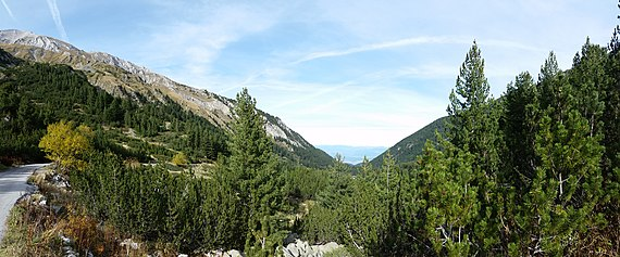 a panorama of Pirin