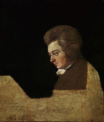Портрет Моцарта работы Йозефа Ланге, 1782/1789 год
