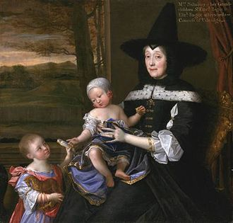 John Michael Wright - Mrs Salesbury with her Grandchildren Edward and Elizabeth Bagot (c. 1676), Tate Collection
