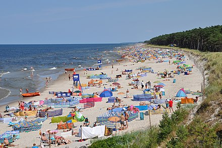 Mrzezyno beach in Poland Mrzezyno east beach 2010-07 A.jpg