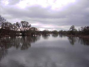 Dessau - The river Mulde near Dessau