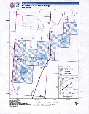 Muleshoe National Wildlife Refuge - Official map of refuge
