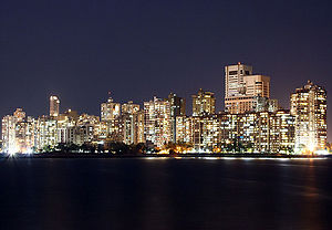 Downtown Mumbai from Nariman Point.
