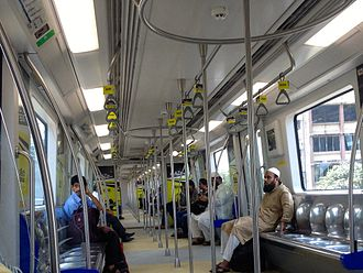 Mumbai Metro - Interior of a metro train