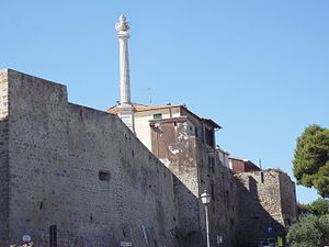 Talamone - Walls of Talamone.