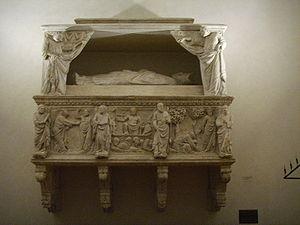 Cassone della Torre - Funerary monument to Cassone della Torre by Tino da Camaino