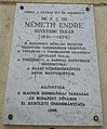Németh Endre emléktáblája, Budapest, XI., Kende utca 7..jpg