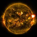 NASA Releases Images of 1st Notable Solar Flare of 2015 (16086588490).jpg