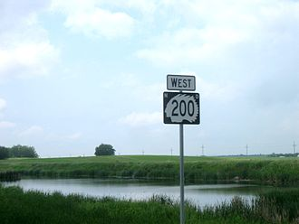 North Dakota Highway 200 - Highway 200 reassurance shield in Sheridan County