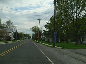 New Jersey Route 49 - Route 49 eastbound in Shiloh.
