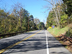 New Jersey Route 12 - County-maintained portion of Route 12 in Frenchtown signed as CR 610