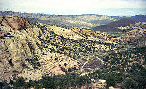 Rainier Mesa - Aerial view of Rainier Mesa