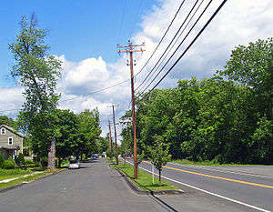 New York State Route 52 - Parallel roadways in eastern Walden along NY 52